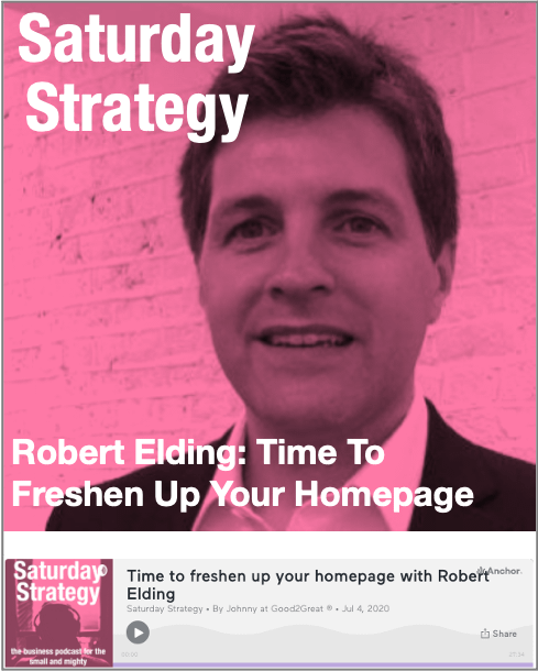 Time to freshen up your homepage with Robert Elding