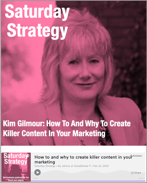 Kim Gilmour- How To And Why To Create Killer Content In Your Marketing