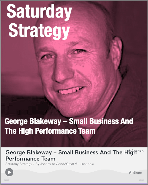 PODCAST: George Blakeway – Small Business And The High Performance Team
